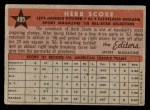 1958 Topps #495   -  Herb Score All-Star Back Thumbnail