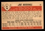 1953 Bowman #90  Joe Nuxhall  Back Thumbnail