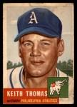 1953 Topps #129  Keith Thomas  Front Thumbnail