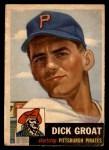 1953 Topps #154  Dick Groat  Front Thumbnail