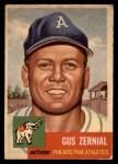 1953 Topps #42  Gus Zernial  Front Thumbnail