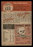 1953 Topps #132  Tom Morgan  Back Thumbnail