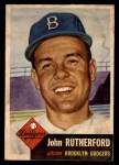 1953 Topps #137  John Rutherford  Front Thumbnail