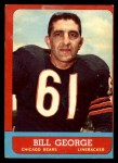 1963 Topps #70  Bill George  Front Thumbnail