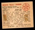 1950 Bowman #77  Duke Snider  Back Thumbnail