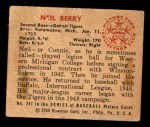 1950 Bowman #241 CPR Neil Berry  Back Thumbnail