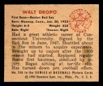 1950 Bowman #246 CPR Walt Dropo  Back Thumbnail