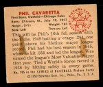 1950 Bowman #195 CPR Phil Cavarretta  Back Thumbnail