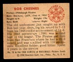 1950 Bowman #70  Bob Chesnes  Back Thumbnail