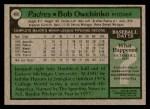 1979 Topps #488  Bob Owchinko  Back Thumbnail