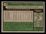 1979 Topps #36  Alan Ashby  Back Thumbnail