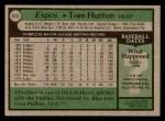 1979 Topps #673  Tom Hutton  Back Thumbnail