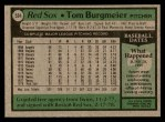 1979 Topps #524  Tom Burgmeier  Back Thumbnail