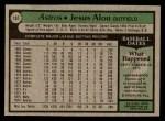 1979 Topps #107  Jesus Alou  Back Thumbnail