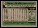 1979 Topps #593  Rick Dempsey  Back Thumbnail
