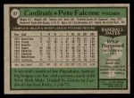 1979 Topps #87  Pete Falcone  Back Thumbnail