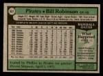 1979 Topps #637  Bill Robinson  Back Thumbnail