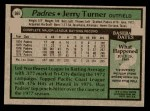 1979 Topps #564  Jerry Turner  Back Thumbnail