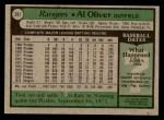 1979 Topps #391  Al Oliver  Back Thumbnail