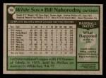 1979 Topps #169  Bill Nahorodny  Back Thumbnail
