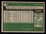 1979 Topps #127  Thad Bosley  Back Thumbnail