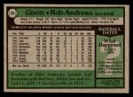 1979 Topps #34  Rob Andrews  Back Thumbnail