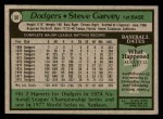 1979 Topps #50  Steve Garvey  Back Thumbnail