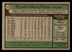 1979 Topps #129  Marty Pattin  Back Thumbnail
