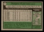 1979 Topps #441  Lee Lacy  Back Thumbnail