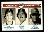 1979 Topps #703   -  Jim Anderson / Dave Frost / Bob Slater Angels Prospects  Front Thumbnail
