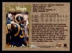 1996 Topps #167  Toby Wright  Back Thumbnail