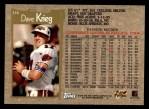 1996 Topps #116  Dave Krieg  Back Thumbnail