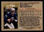 1996 Topps #219  Rick Mirer  Back Thumbnail