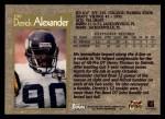 1996 Topps #199  Derrick Alexander  Back Thumbnail