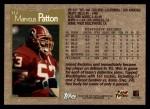 1996 Topps #112  Marvcus Patton  Back Thumbnail
