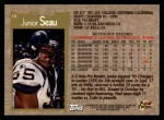 1996 Topps #10  Junior Seau  Back Thumbnail