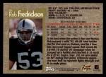 1996 Topps #18  Rob Fredrickson  Back Thumbnail