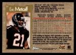 1996 Topps #37  Eric Metcalf  Back Thumbnail