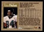 1996 Topps #184  Kelvin Pritchett  Back Thumbnail