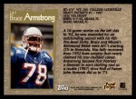 1996 Topps #142  Bruce Armstrong  Back Thumbnail