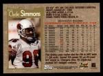 1996 Topps #213  Clyde Simmons  Back Thumbnail
