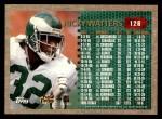 1996 Topps #126   -  Ricky Watters 1000 Yard Club Back Thumbnail