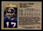 1996 Topps #80  Dave Brown  Back Thumbnail