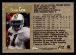 1996 Topps #45  Bryan Cox  Back Thumbnail