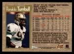1996 Topps #23  Renaldo Turnbull  Back Thumbnail