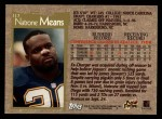 1996 Topps #117  Natrone Means  Back Thumbnail