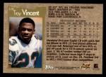 1996 Topps #220  Troy Vincent  Back Thumbnail