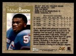 1996 Topps #79  Micheal Barrow  Back Thumbnail