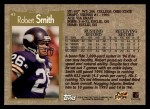 1996 Topps #43  Robert Smith  Back Thumbnail