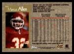 1996 Topps #365  Marcus Allen  Back Thumbnail